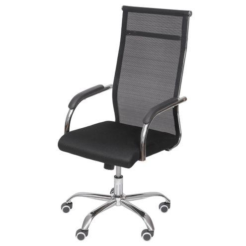Cadeira-Escritorio-Basic-Alta-Tela-Preta-com-Base-Cromada---50030