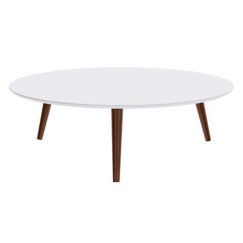 Mesa-Centro-Formato-Tampo-Branco-Fosco-com-Pes-Escuros-90-cm--LARG----50462