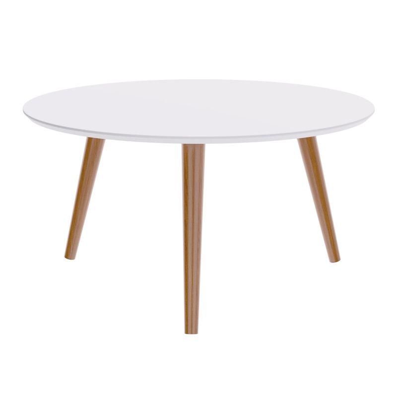 Mesa-Centro-Formato-Tampo-Branco-Fosco-com-Pes-Claros-70-cm--LARG----50505