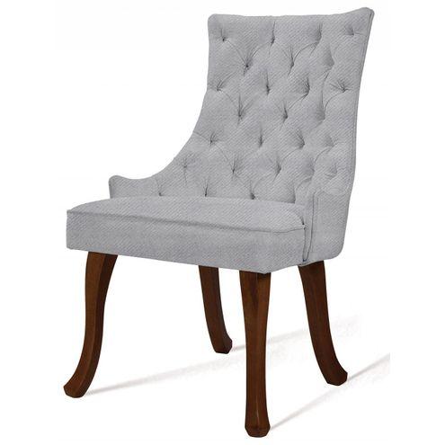 Cadeira-Rocaille-Capitone-Gelo-Base-Castanho---50553