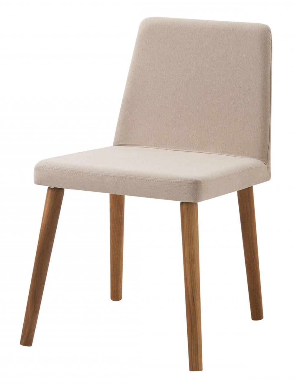 Cadeira Ghog Bege Base Natural - 50581