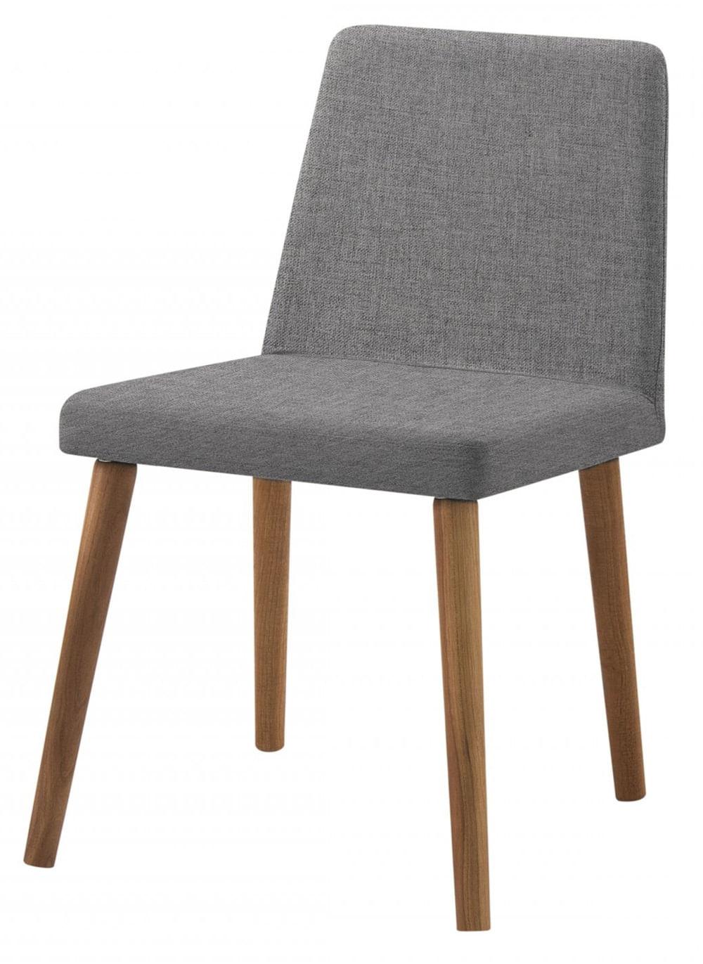 Cadeira Ghog Grafite Base Natural - 50582