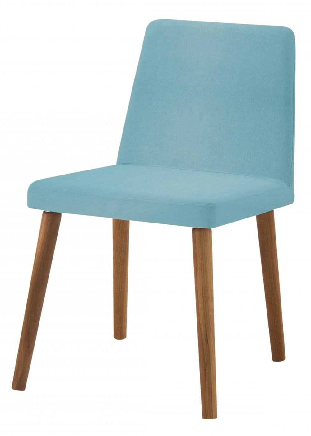 Cadeira Ghog Azul Base Natural - 50583