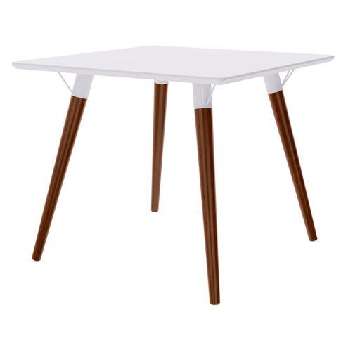 Mesa-Jantar-Quadrada-Formato-Tampo-Branco-Fosco-com-Pes-Escuros-90-cm--LARG----47965