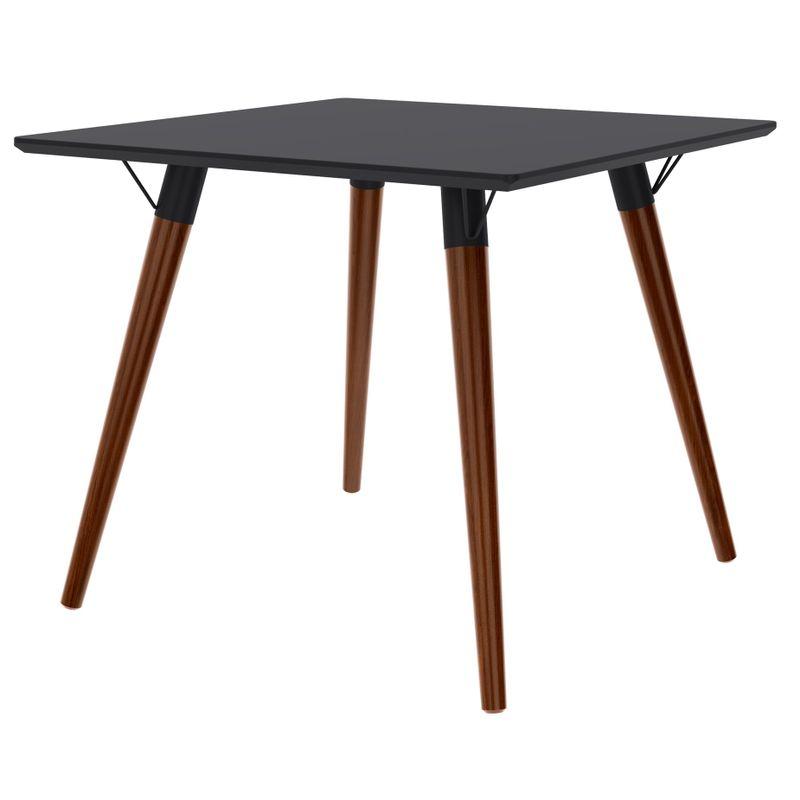 Mesa-Jantar-Quadrada-Formato-Tampo-Preto-Fosco-com-Pes-Escuros-90-cm--LARG----50601