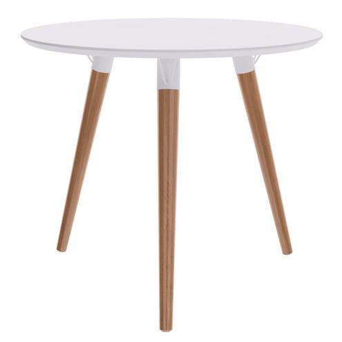 Mesa-Jantar-Redonda-Formato-Tampo-Branco-Fosco-com-Pes-Claros-90-cm--LARG----47966