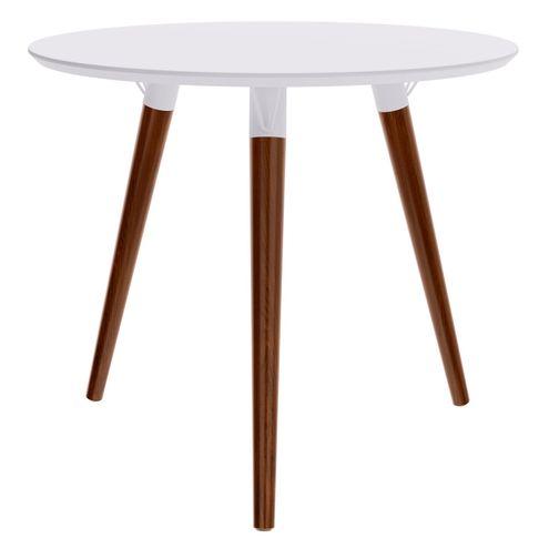 Mesa-Jantar-Redonda-Formato-Tampo-Branco-Fosco-com-Pes-Escuros-90-cm--LARG----50604
