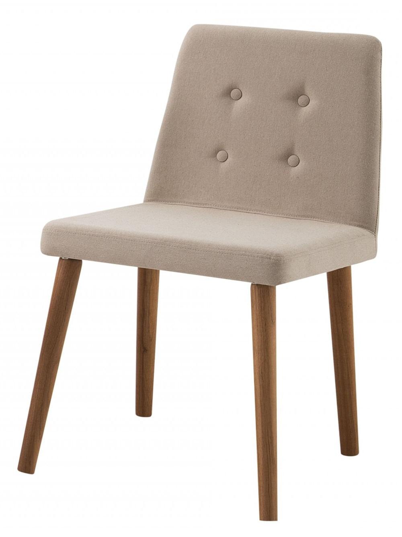 Cadeira Flan Bege Base Castanho - 50662