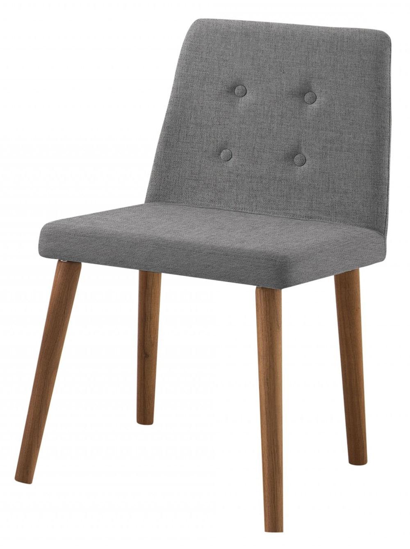 Cadeira Flan Cinza Base Castanho - 50723