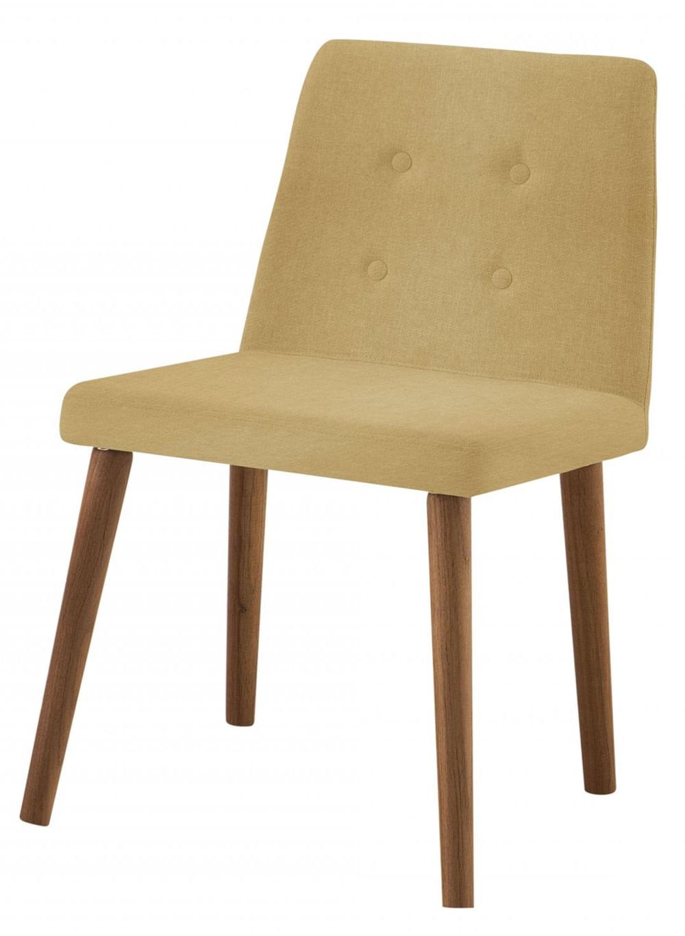 Cadeira Flan Areia Base Castanho - 50726