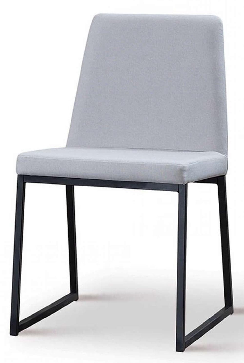 Cadeira Graty Cinza Base Preta - 50732
