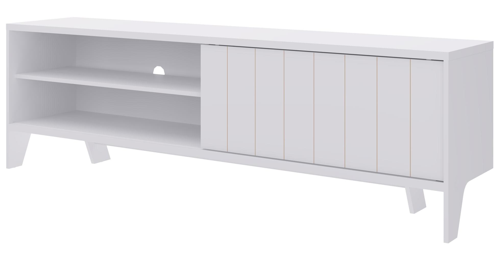 Rack Mood 1 Porta em MDP cor Branco Fosco 1,83 MT (LARG) - 47957