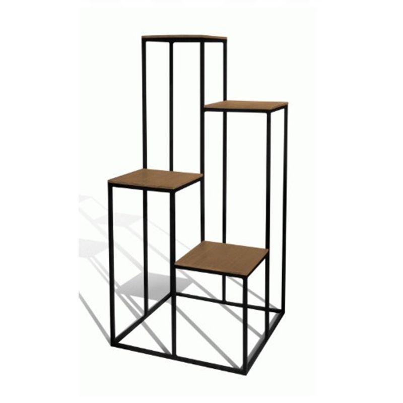 Floreira-Floors-4-Niveis-Madeira-Cumaru-com-Base-Preto-Fosco-Texturizado-130-MT--ALT----50631