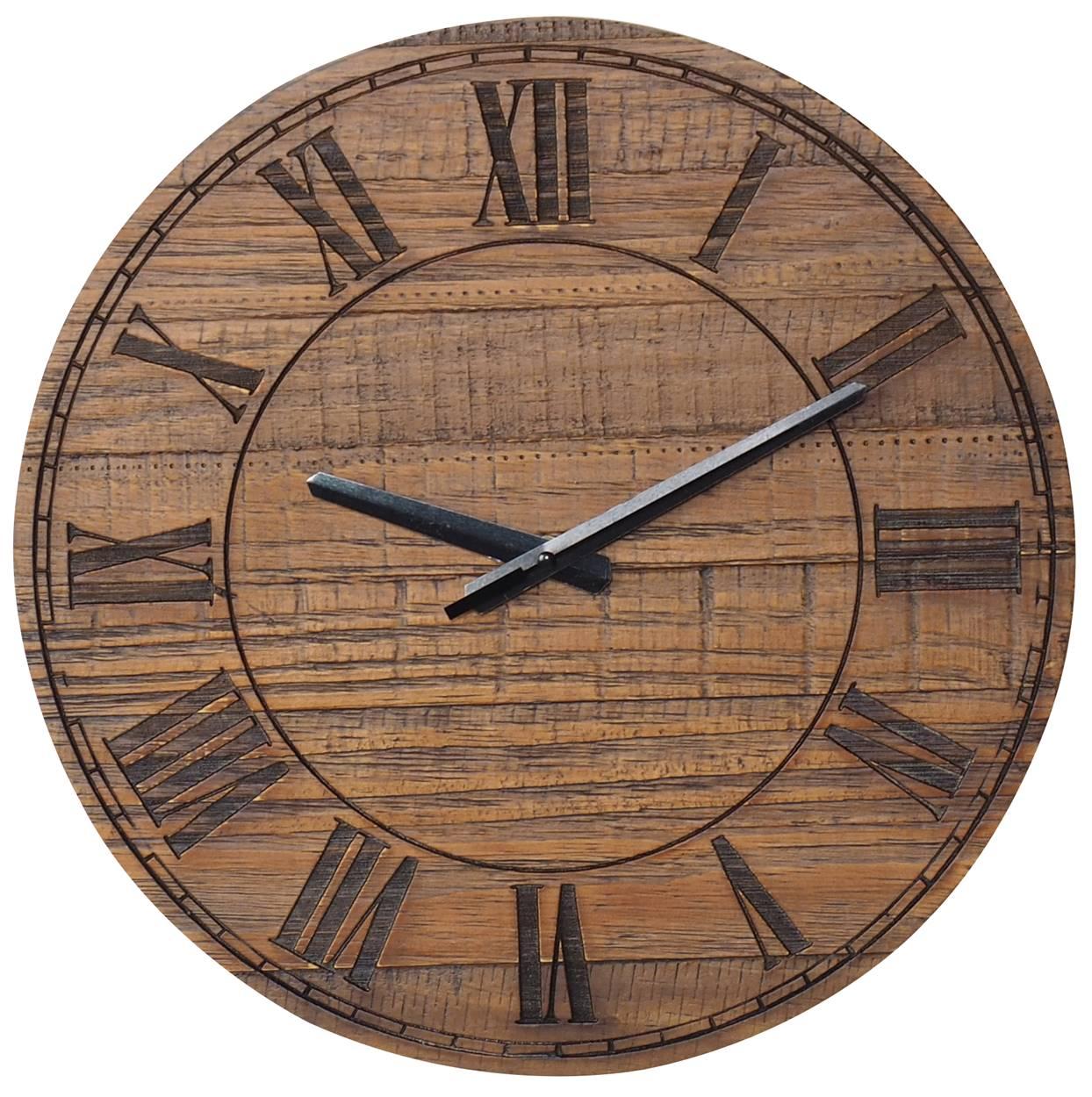 Relogio Design Industrial Romanos cor Rustic Brown 38 cm (LARG) - 50094
