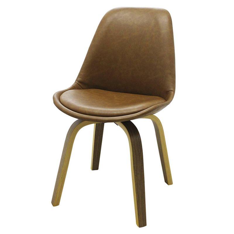Cadeira-Lis-Eames-Revestida-PU-Marrom-Base-Madeira-Mescla---51147
