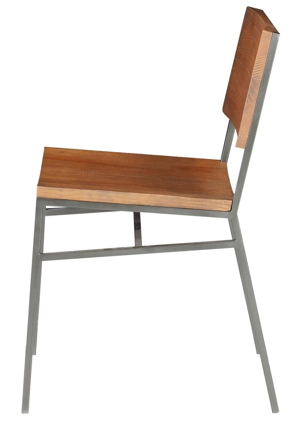 Cadeira Brooklyn cor Rustic Brown com Base Aco Grafite - 49617