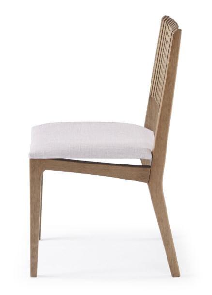Cadeira Farm com Encosto Ripado e Assento Estofado - 50906