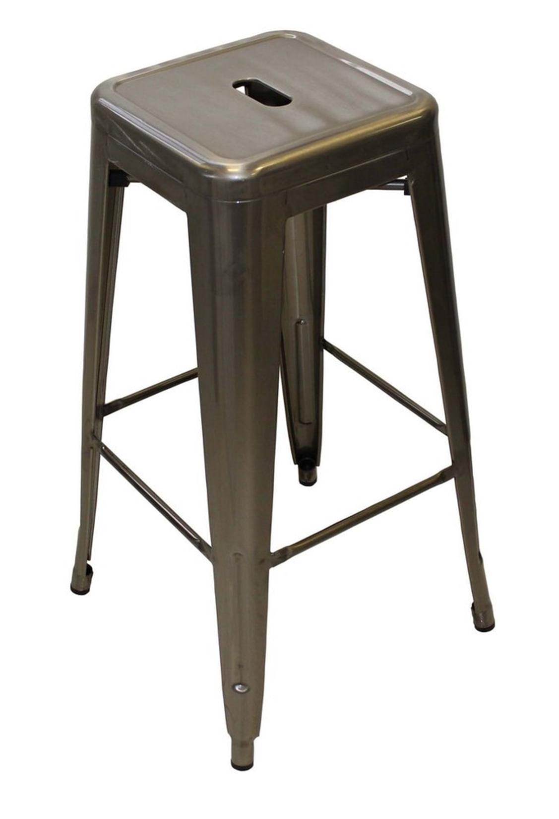 Banqueta Tolix Cor Prata Metalizada 77 cm (ALT) - 51628