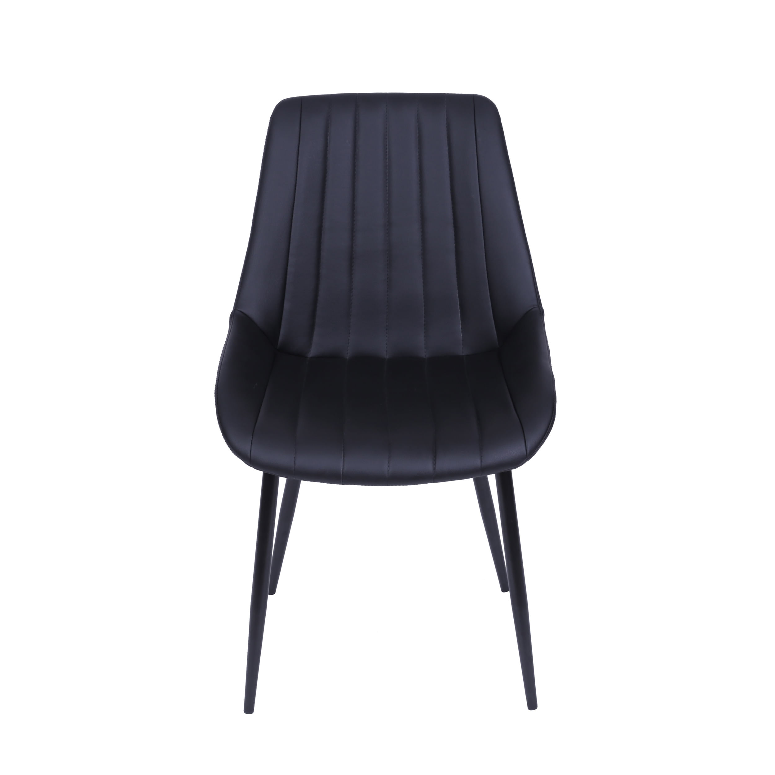 Cadeira Lounge Courino Preta Com Costura Vertical - 51784