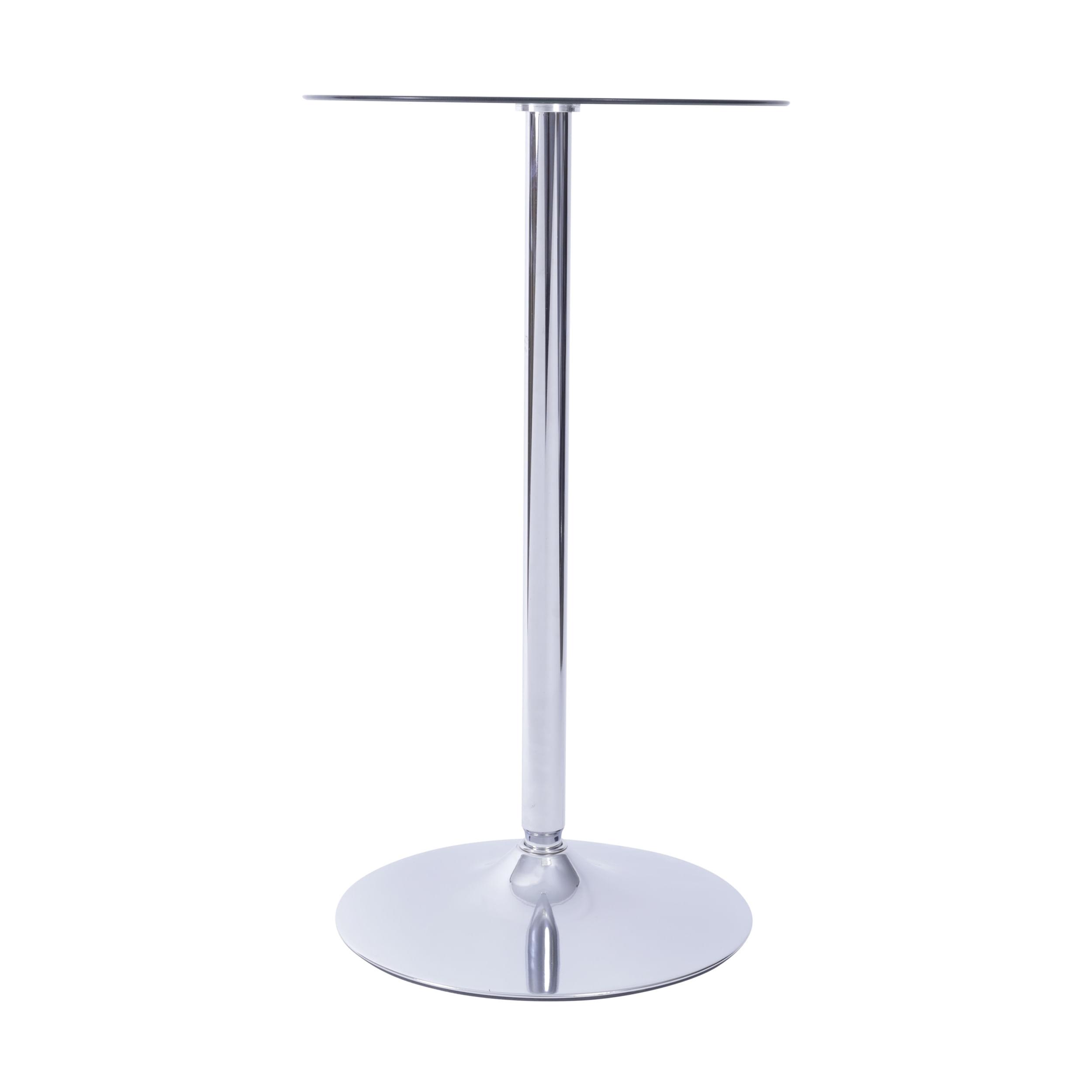 Mesa Bistro com Tampo de Vidro Temperado Base Disco Cromado 60 cm (LARG) - 51778