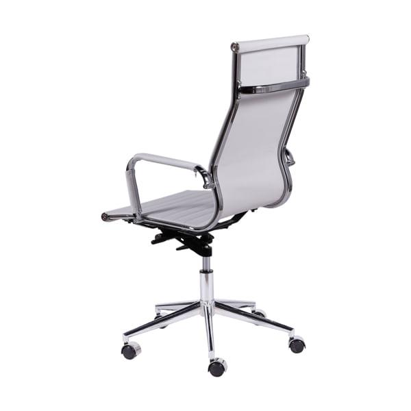 Cadeira Eames Alta Branca Base Cromada - 15121