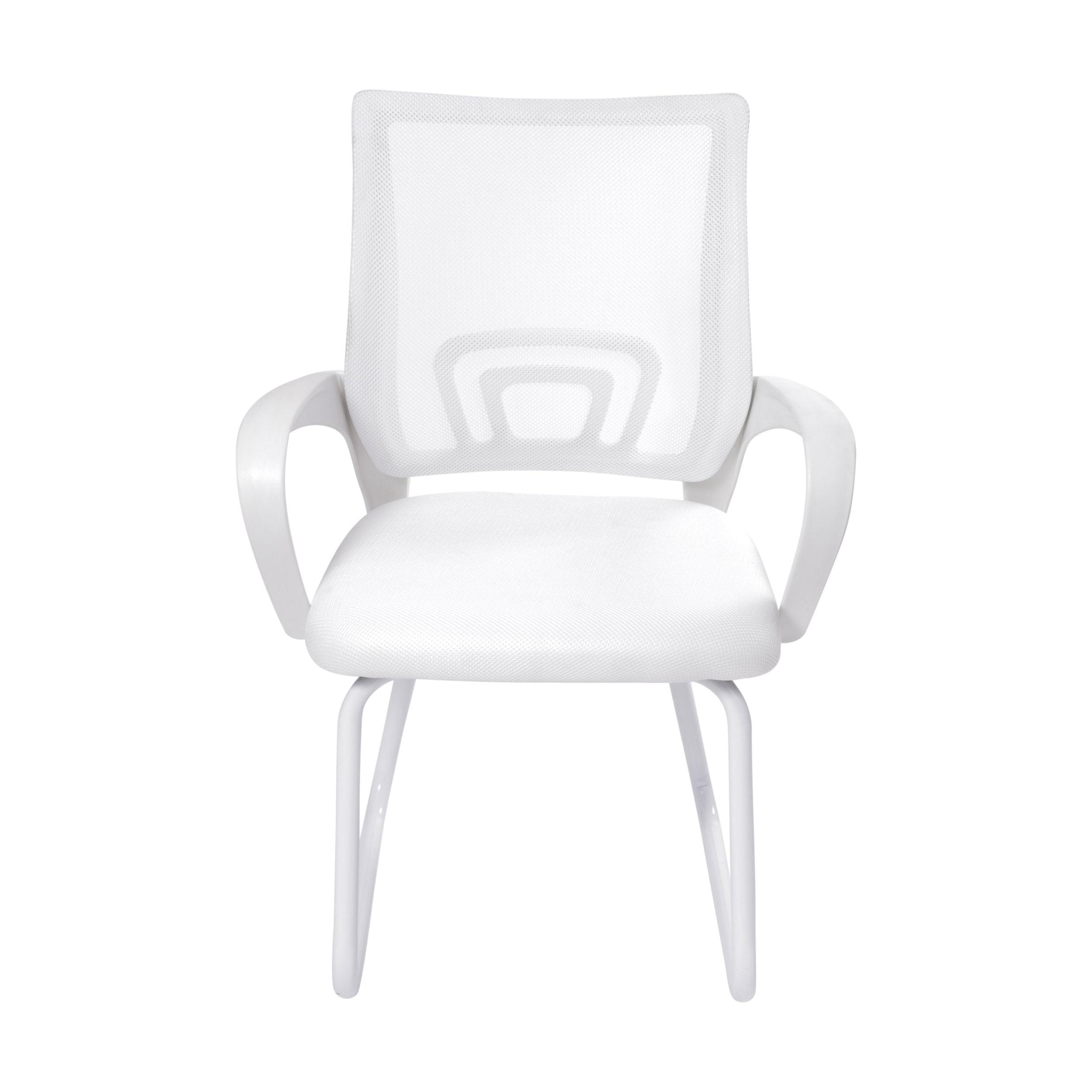 Cadeira Office Osorno Tela Mesh Branca com Base Fixa Branca - 51832