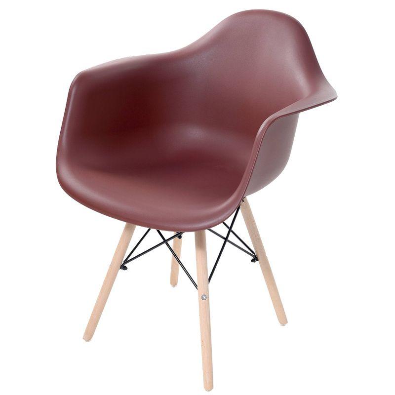 Cadeira-Arm-com-Braco-Marrom-Fosco-Base-Madeira-Clara---51955