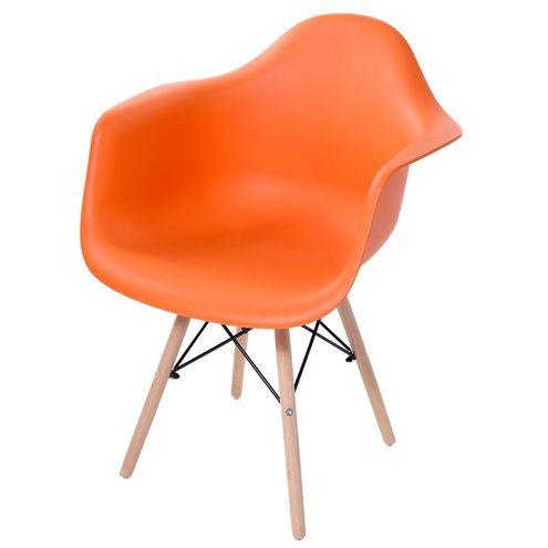 Cadeira-Arm-com-Braco-Laranja-Fosco-Base-Madeira-Clara---51958