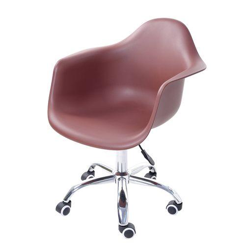 Cadeira-Arm-com-Braco-Marrom-Fosco-Rodizio-Cromado---51965
