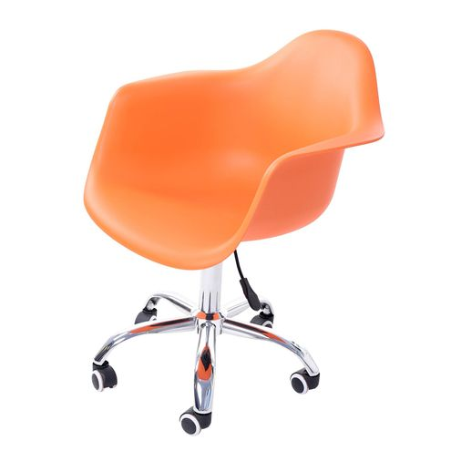Cadeira-Arm-com-Braco-Laranja-Fosco-Rodizio-Cromado---51967