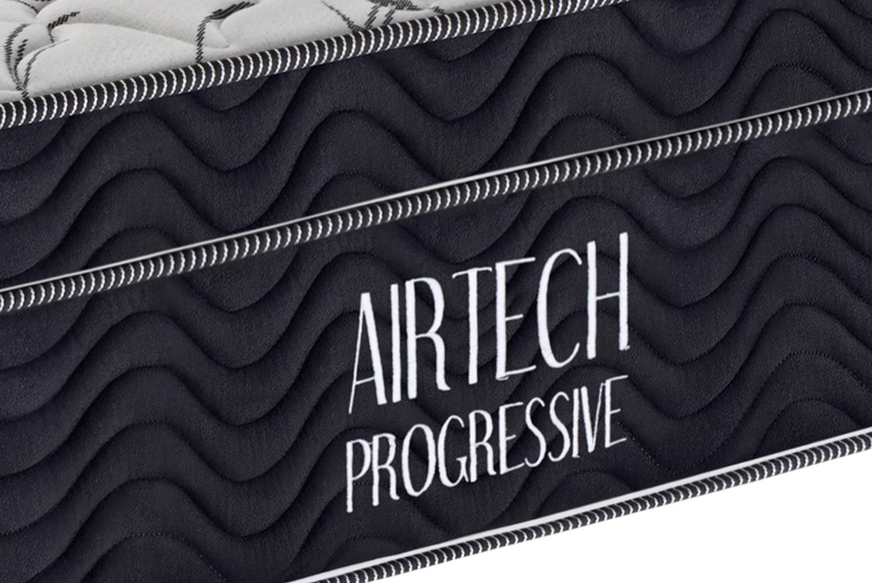 Colchao Airtech Progressive Solteiro 78 cm (LARG) Branco com Lateral Preta - 51984