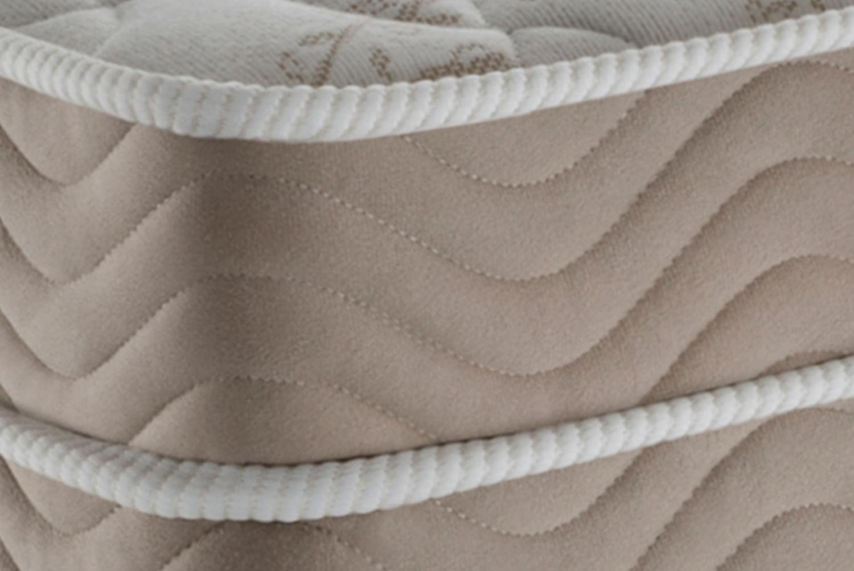 Colchao Airtech Spring Pocket Viuva 128 cm (LARG) Branco com Lateral Bege - 51987