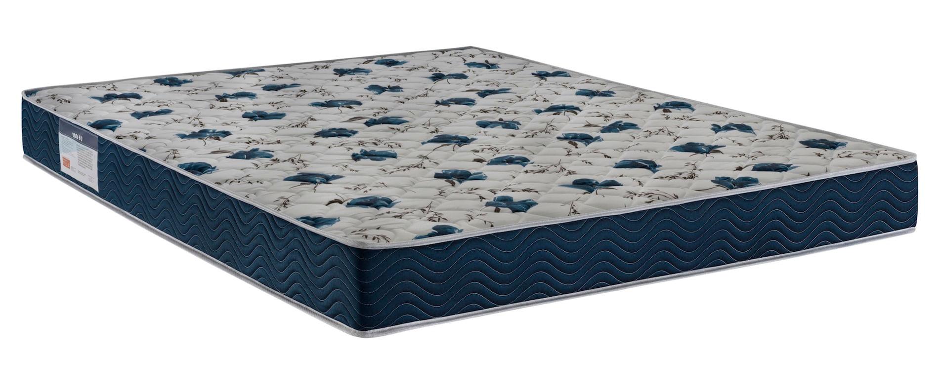 Colchao Iso 6.0 - D28 Casal 138 cm (LARG) Azul e Branco - 52003