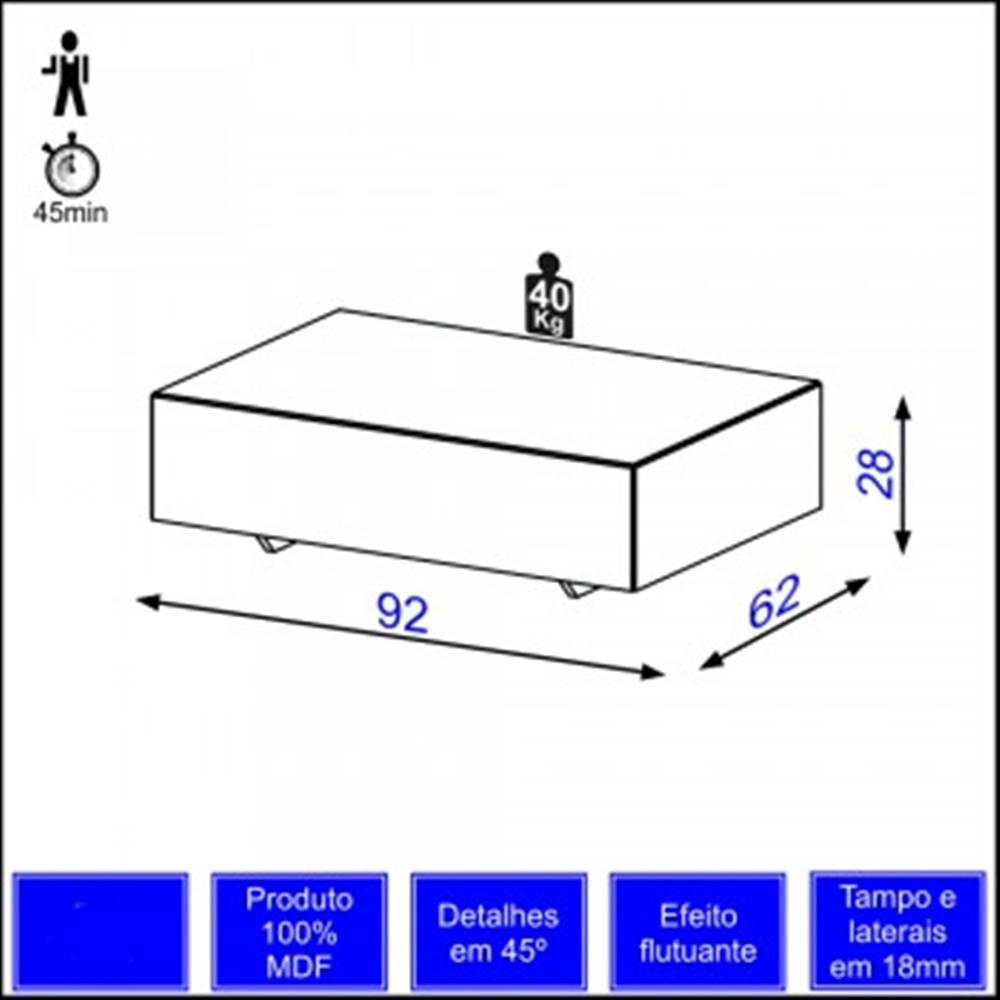 Mesa de Centro Cubo cor Nobre - 10627