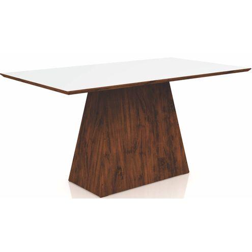 Mesa-Jantar-Piramide-Retangular-com-Vidro-cor-Nobre-com-Off-White-160-MT--LARG----52530-