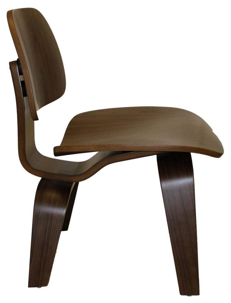 Cadeira Charles Eames Lounge em Madeira Nogueira - 52617