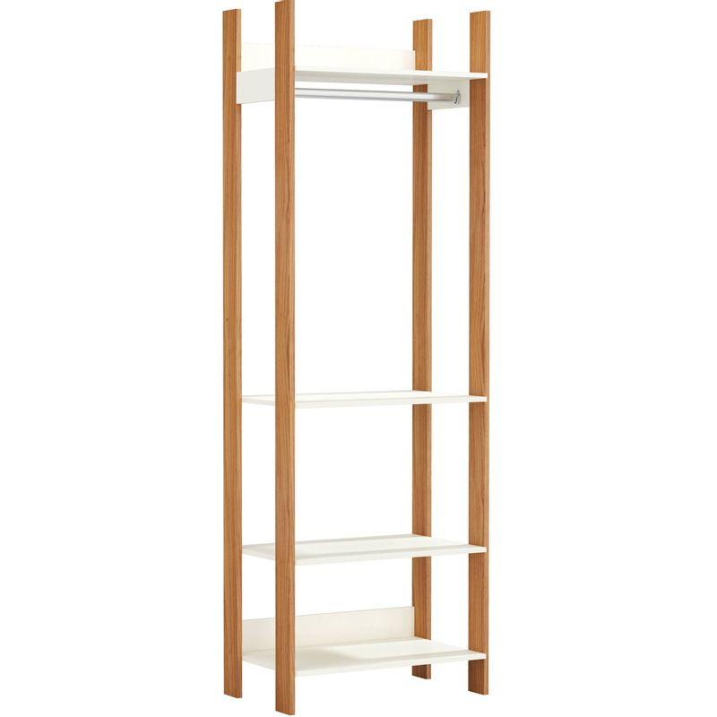 Closet-1-Torre-Olimpo-74-cm--LARG--Off-White-Brilho-com-Freijo-Fosco---52860