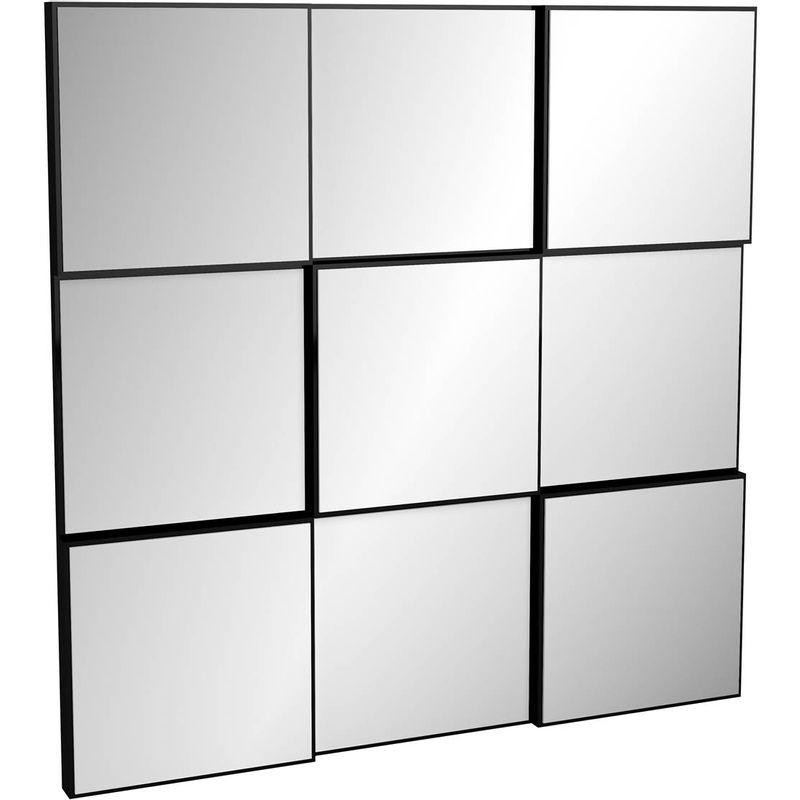 Quadro-Espelho-Block-Pequeno-75cm--LARG--cor-Preto-Brilho---52877-