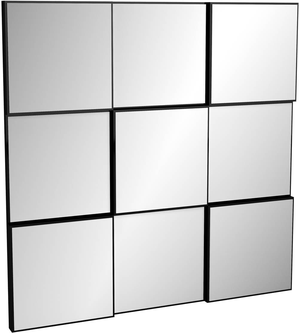 Quadro Espelho Block Pequeno 75cm (LARG) cor Preto Brilho - 52877