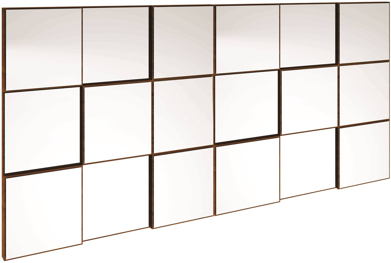 Quadro Espelho Block Grande 1,50 MT (LARG) cor Nobre - 39932