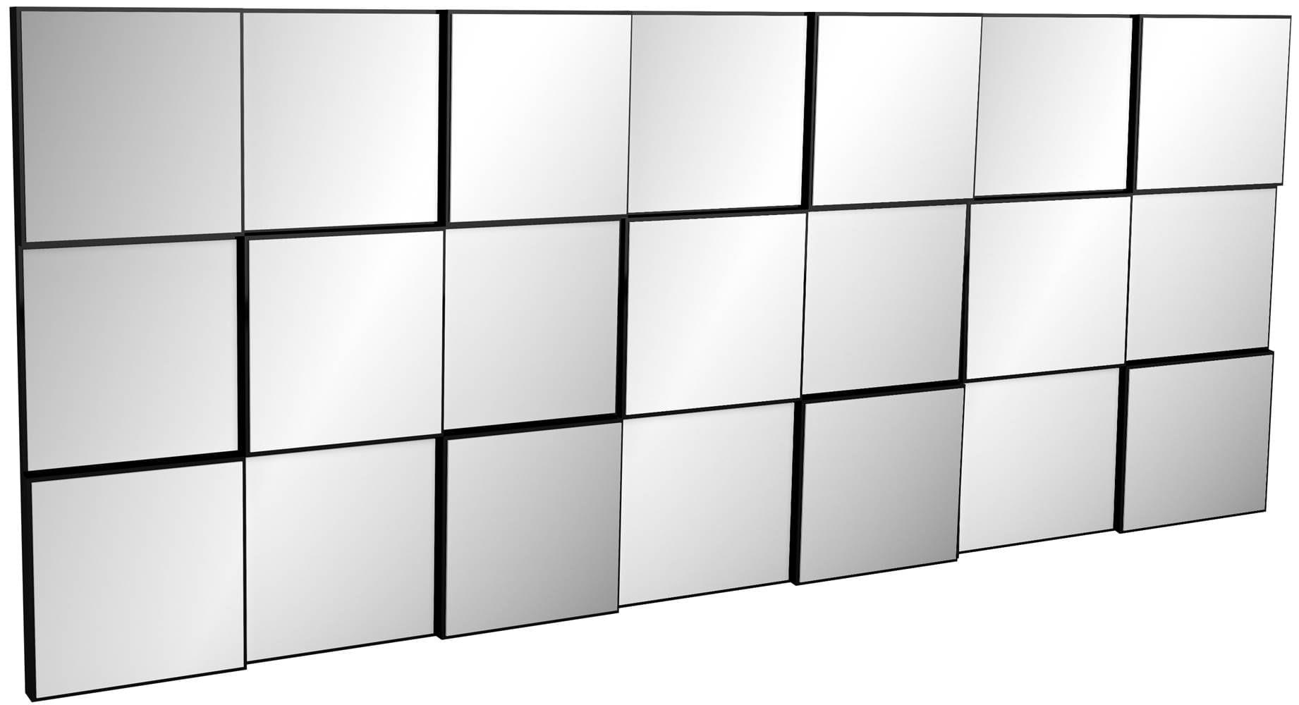 Quadro Espelho Block Extra Grande 1,75 MT (LARG) cor Preto Brilho - 52884