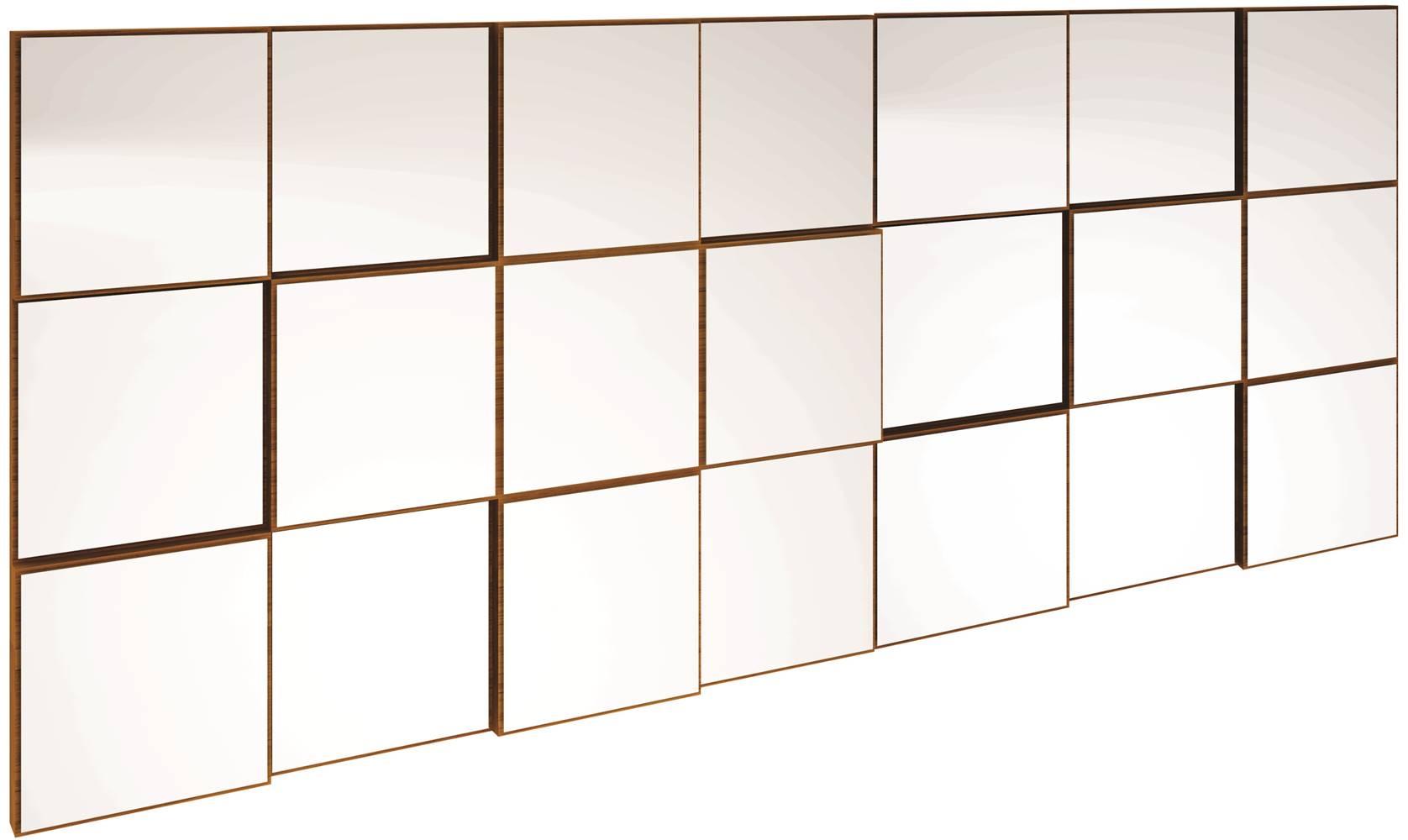 Quadro Espelho Block Extra Grande 1,75 MT (LARG) cor Freijo - 39580