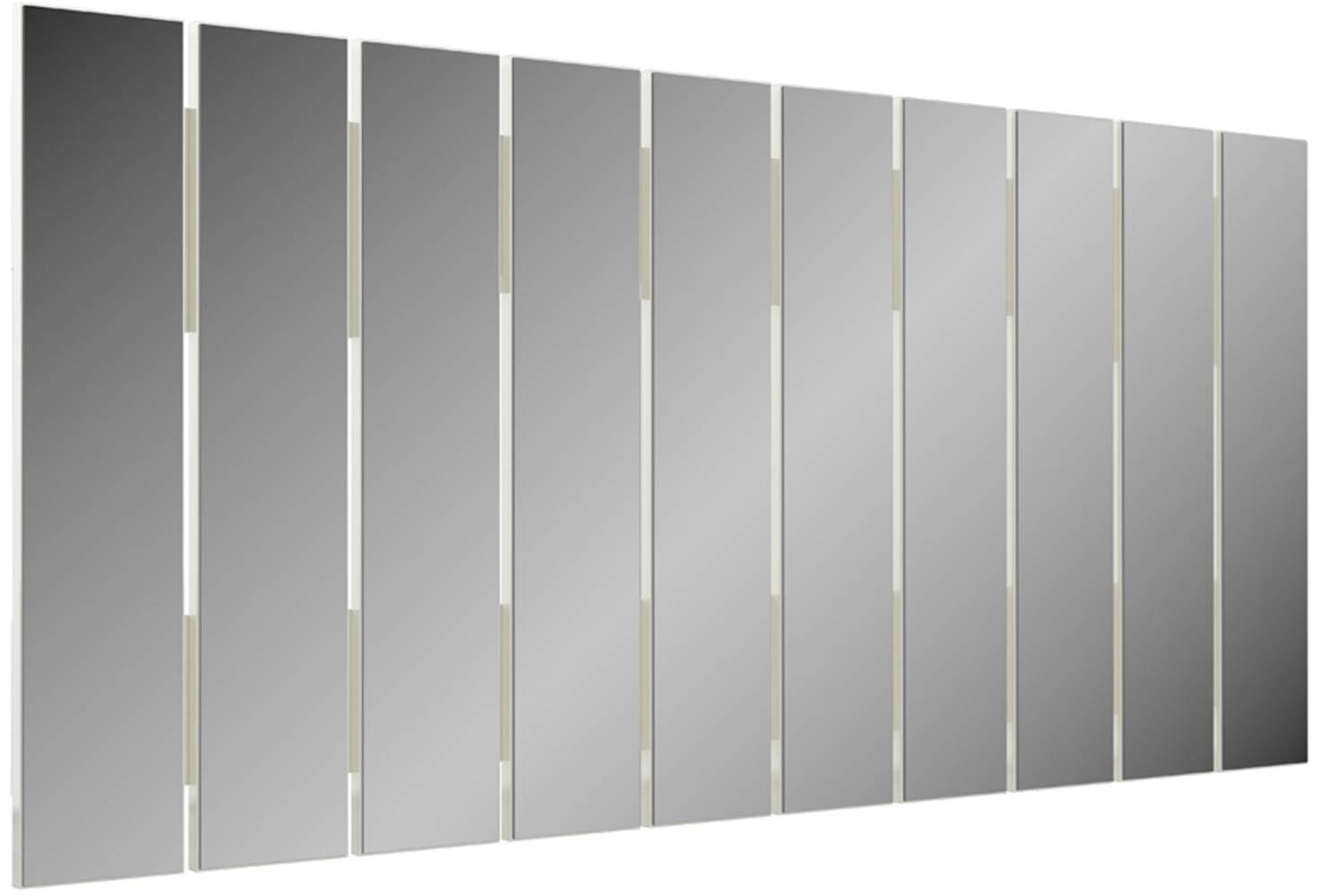 Quadro Espelho Ripas Vertical 1,50 MT (LARG) cor Off White - 47482
