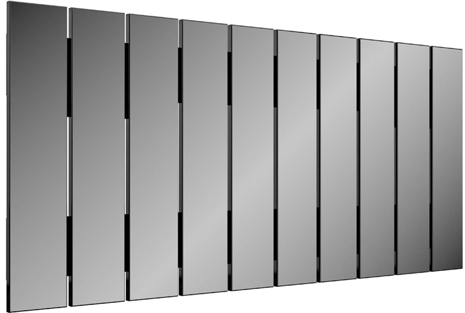 Quadro Espelho Ripas Vertical 1,50 MT (LARG) cor Preto Brilho - 47483