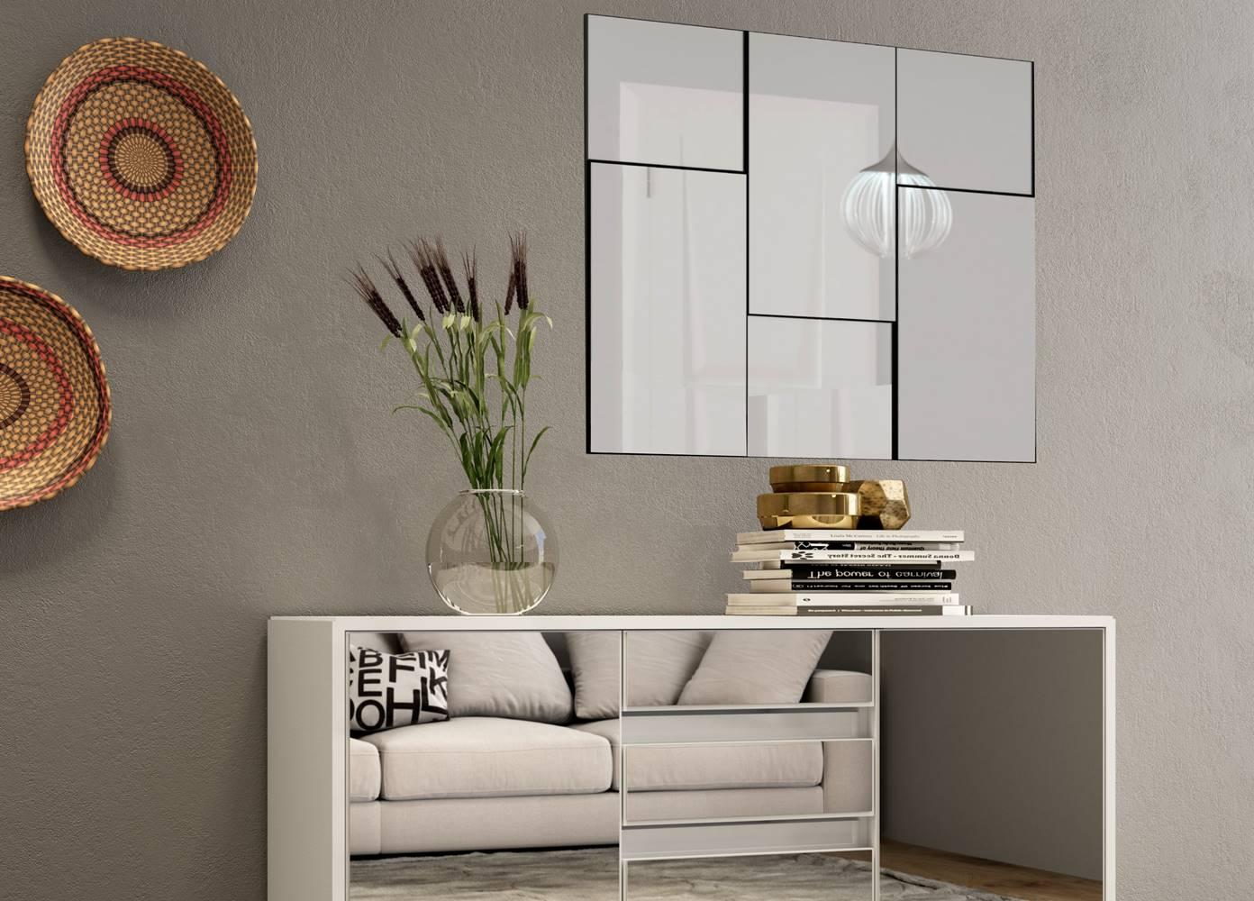 Quadro Espelho Escala Pequeno 90cm (LARG)cor Off White - 52888