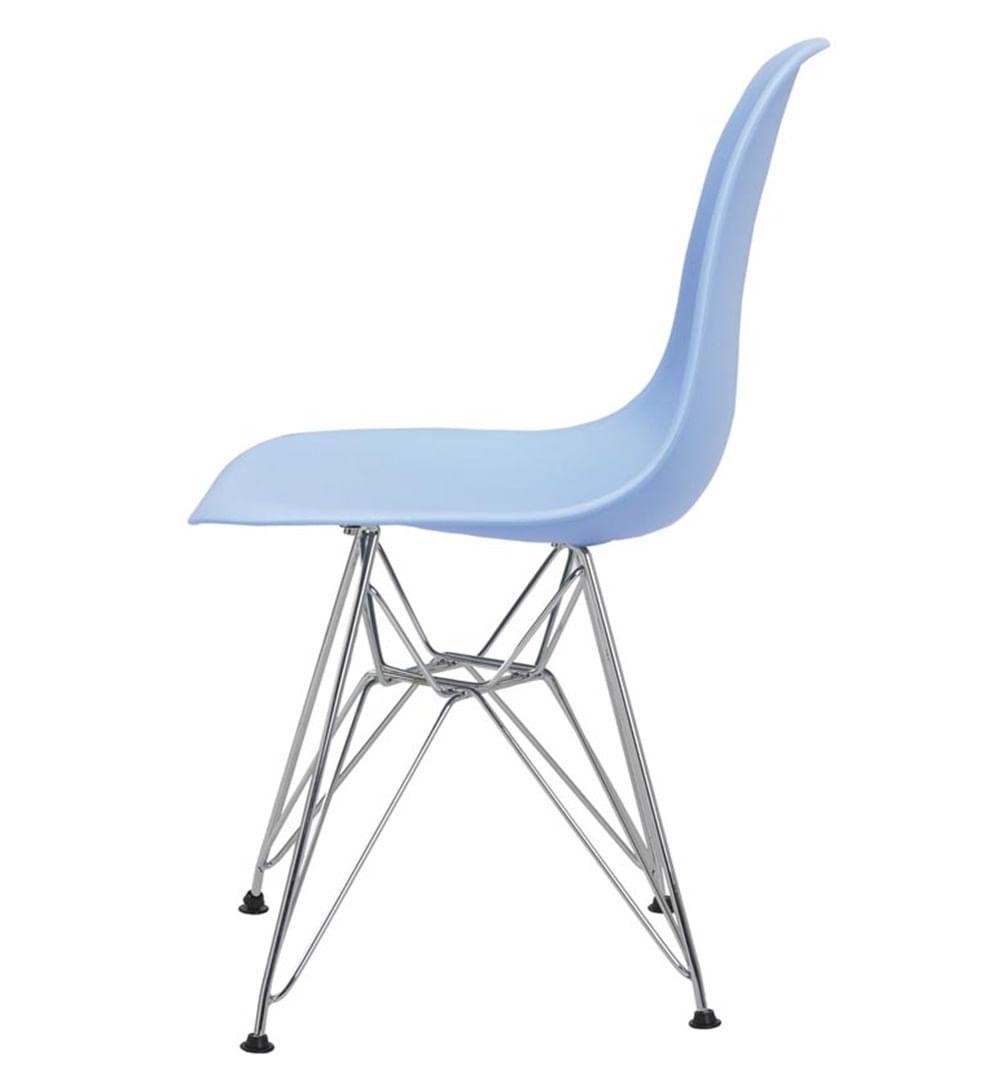 Cadeira Eames Eiffel PP Azul Bali Base Cromada - 38583