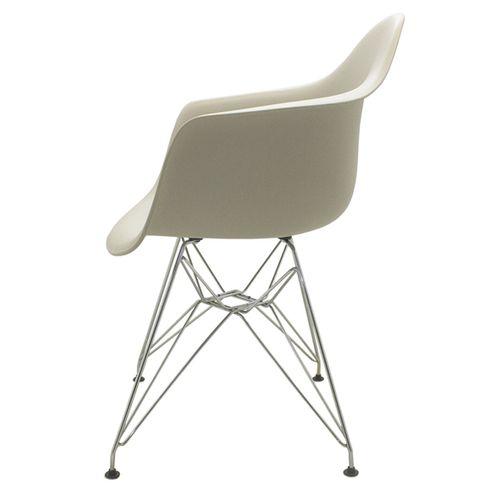 Kit 2 Cadeiras Charles Eames Eiffel Nude Base Madeira Sala