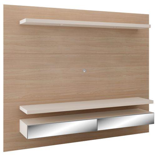Home-Suspenso-com-Led-Ibira-220-MT--LARG--com-2-Gavetas-Espelhadas-cor-Natural-com-Off-White---47600