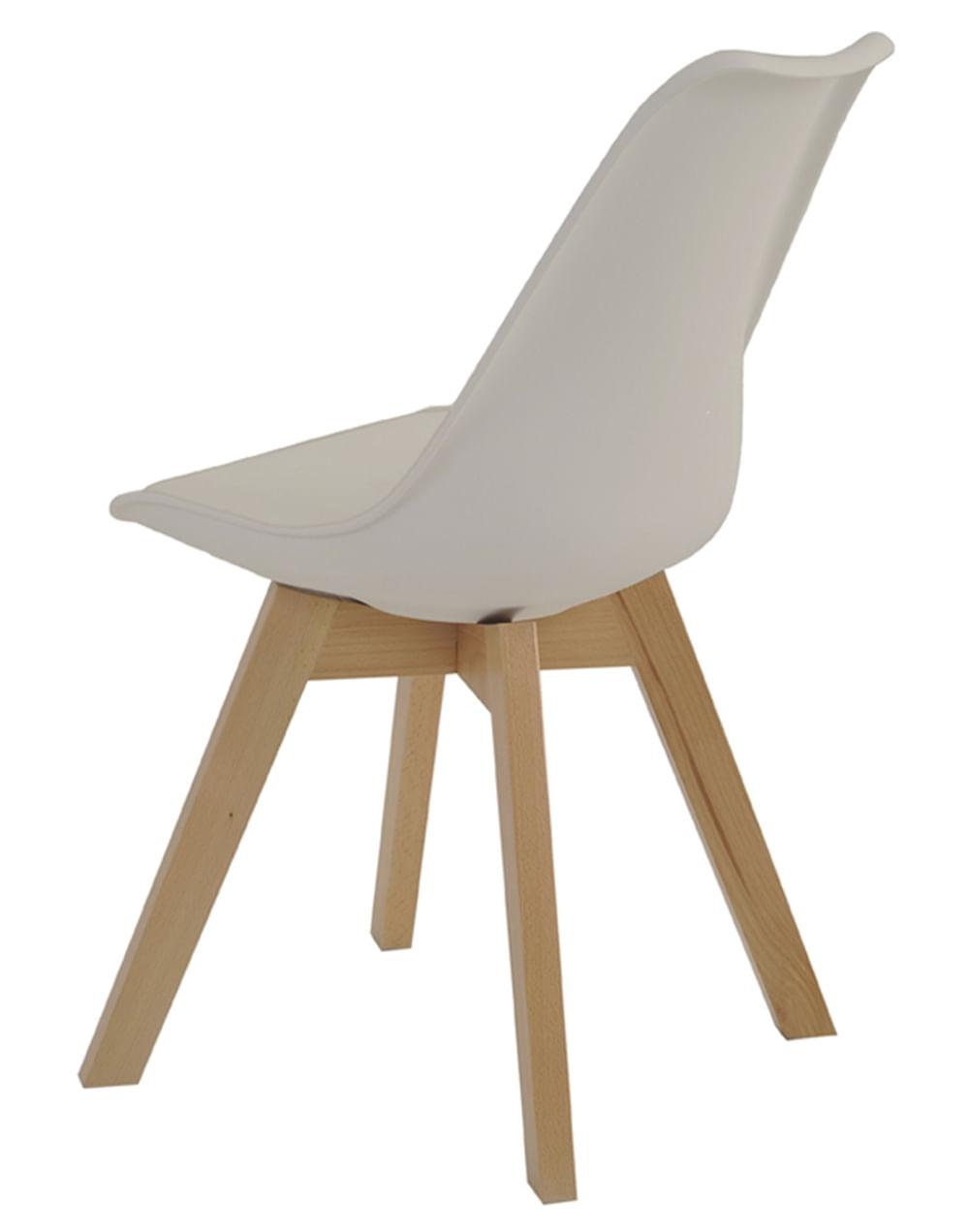 Cadeira Leda Eames Polipropileno Nude Base Madeira - 47290