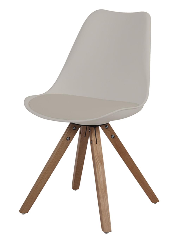 Cadeira Ligia Eames Polipropileno Nude Base Madeira - 53292